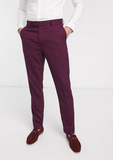 Burgundy Slim Fit Single Breasted Blazer 3 Piece Suit