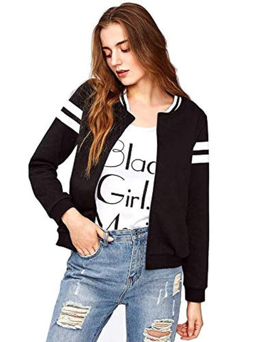 Cotton Black Jacket for Women/Girls