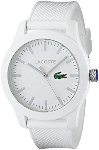 Lacoste White Watch with Textured Band