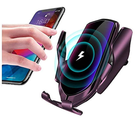 Car Mobile Holder with Automatic Retractable Smart Sensor Car Wireless Charger for All Cars.