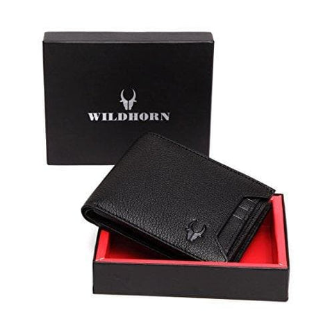 Black Genuine Leather Wallet Purse