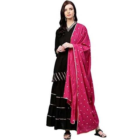 Black A line Salwar Suit Set by Bhama Couture