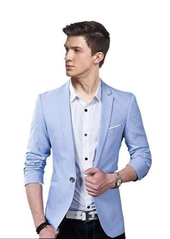 Single Breasted Slim Fit Single Button Party Blazer