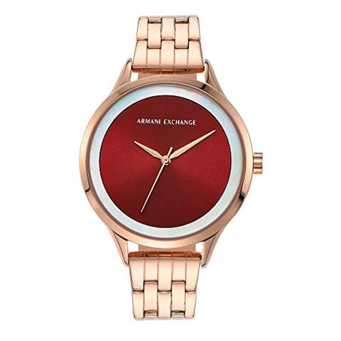 Analog Red Dial Women's Watch