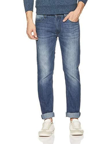 Pepe Zip Fly Mid Stone Washed Slim Fit Jeans