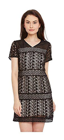 A-Line Black Women's Mini Dress