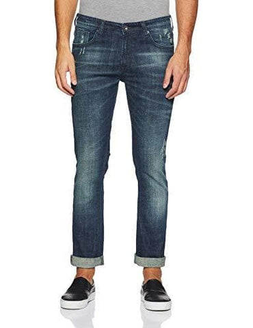 Pepe Dark Stone Wash Zip Fly Slim Fit Jeans