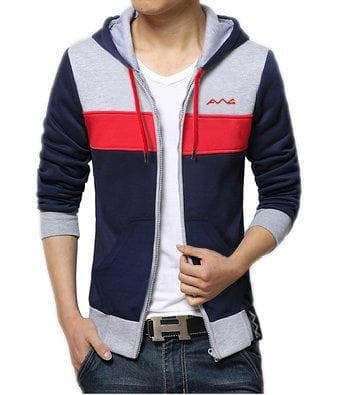 All Weather Cotton Hoodie Sweatshirt with Zip