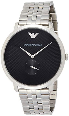 Modern Slim Analog Black Dial Men's Watch