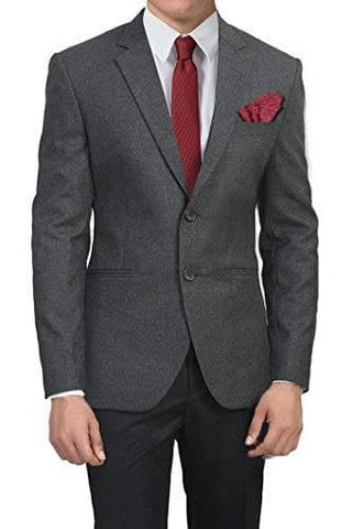 Slim Fit Charcoal Grey Blazer