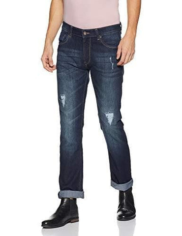 Pepe Distressed Zip Fly Slim Fit Jeans