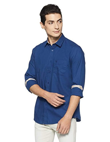 Slim Fit Cotton Long Sleeve Allen Solly Casual Shirt