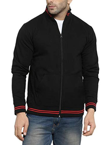 High Neck Sweatshirt Jacket with Zip