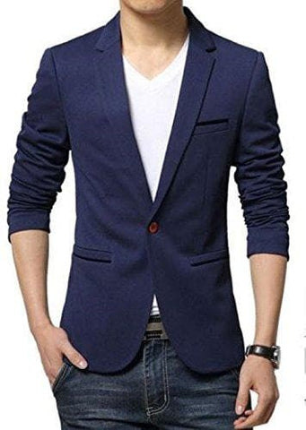 One Button Lapel Super Slim fit Blazer
