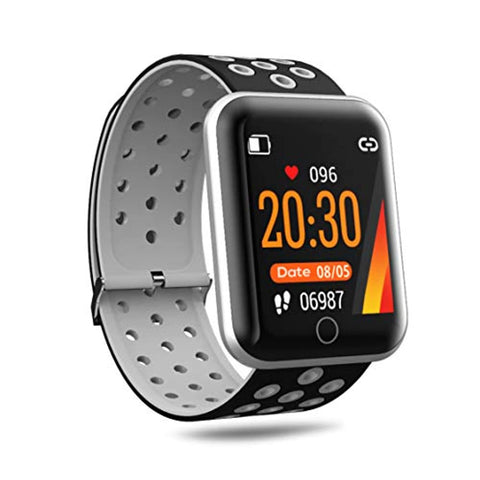 Black Fitness Smart Watch with Multi-Sports Mode and Large Touch Screen