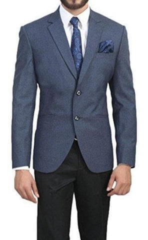 Slim Fit Two Button Notched Collar Blazer