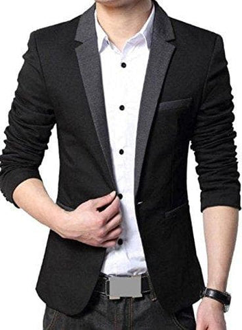 Slim Fit Party Wear Single Button Blazer