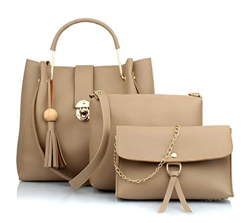 Women's PU Leather Handbag Combo