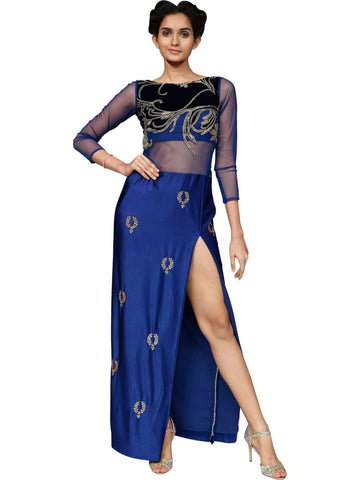 Bold And Blue Gown by Niharika Vivek