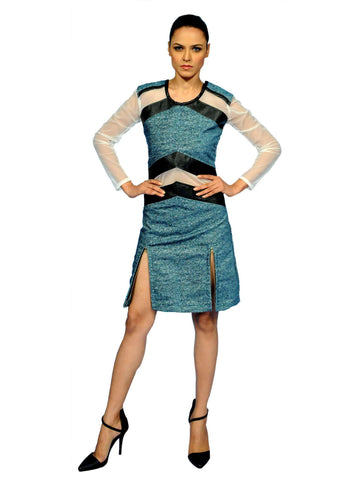 Warrier Drama Leather Dress By Anvita Thakkar
