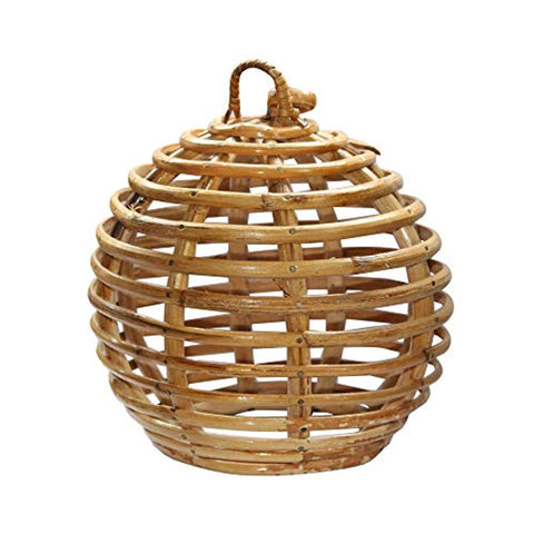 Eco-Friendly Round Handmade Cane Lamp Shade Handcrafted Decor