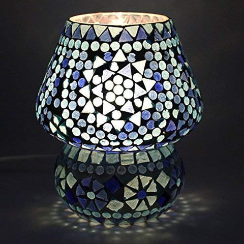 Mosaic Style Dome Shaped Glass Table Lamp