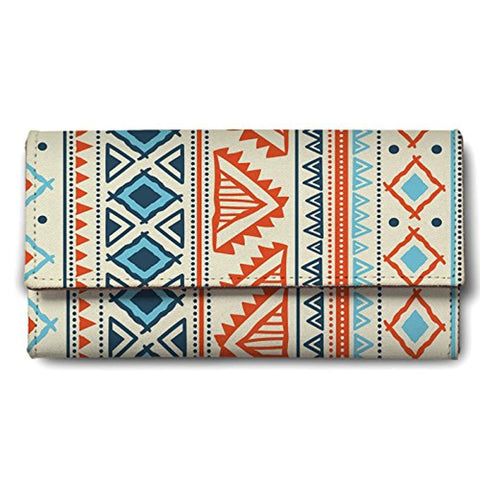 Vector Tribal Ethnic Pattern Ladies Wallet