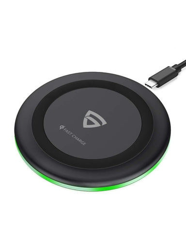 Arc 500 Type-C PD Qi-Certified 10W/7.5W Wireless Charger with Fireproof ABS.