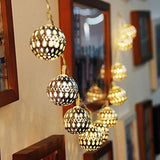 Metal Ball with 20 LED Hanging Lantern String Lights