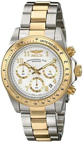 Invicta Speedway Analog Display Japanese Quartz Two Tone Watch