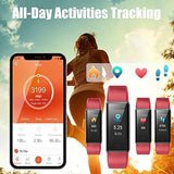 Fitness Band Activity Tracker with Heart Rate Monitor, IP68 Waterproof Smart Watch Bracelet