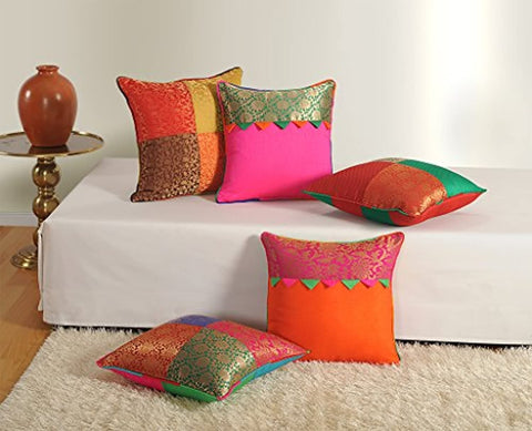 Assorted Brocket Cushion Cover Set of 5