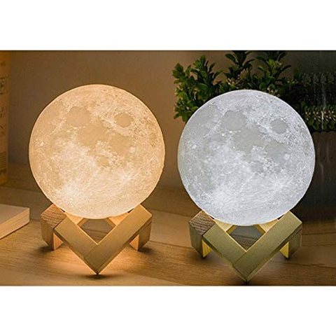 3D Lamp with Touch Control Adjust Brightness Moon Light with Stand