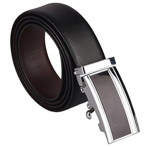 Reversible Leather Belt with Auto Lock Buckle