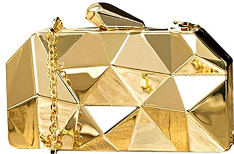 Party Wear Beautiful Metallic Acrylic Box Clutch Bag Purse