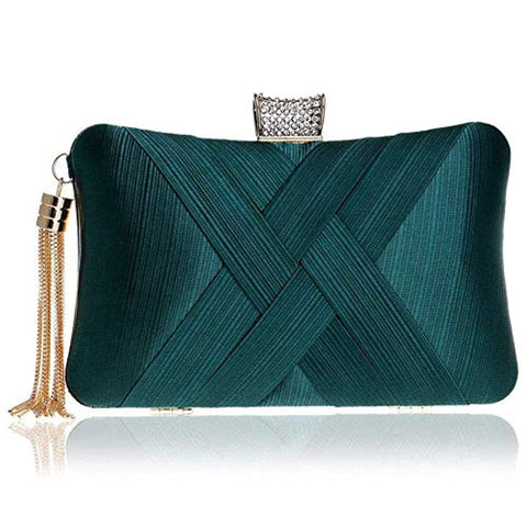 Women's Elegant Tassel Velvet Evening Party Clutch Bags