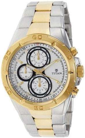 Chronograph Analog Silver Dial Watch