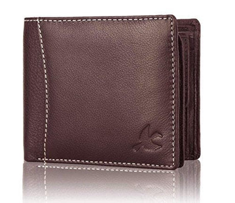 Brown Soft Grain Leather Wallet Purse