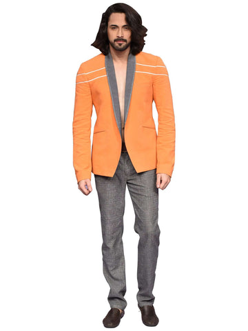 Orange Canvas Jacket by Abhishek Dutta - Wear.Style