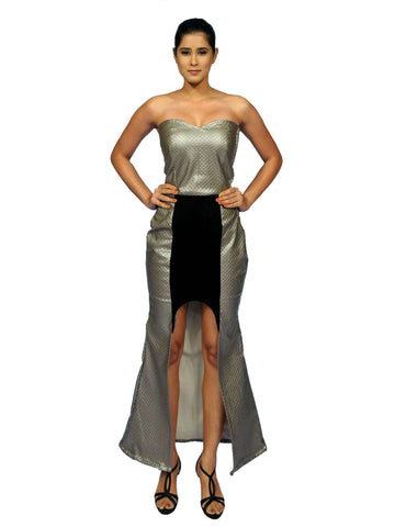 Wild Glam Leather Gown By Anvita Thakkar