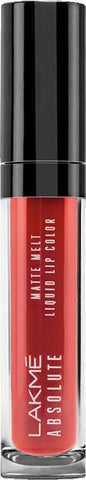 Lakme Absolute Matte Melt Liquid Lip Color Red Smoke, 6 ml