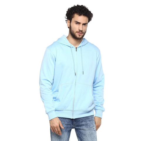 Full Sleeve Kangaroo Pockets Round Neck Hoodie Cotton Sweatshirt