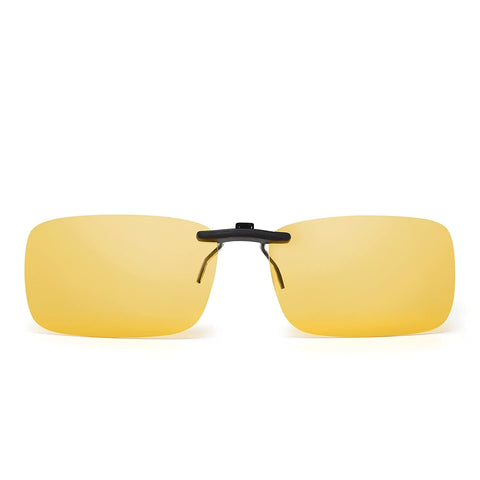 Lightweight Polarized Rimless Rectangle Clip on Unisex Sunglasses