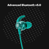 Bluetooth Wireless Neckband Earphones with Mic Fast Charging IPX5 Water Resistant 10mm Dynamic Drivers for Great Wireless Sound 10 Hours of Playtime