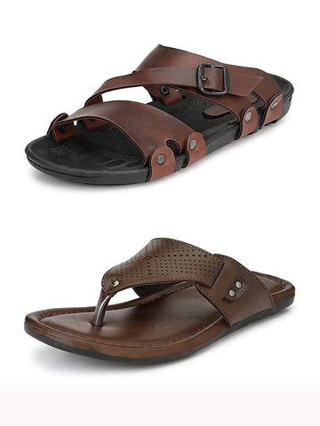 Men Combo of Two Sandal Slippers