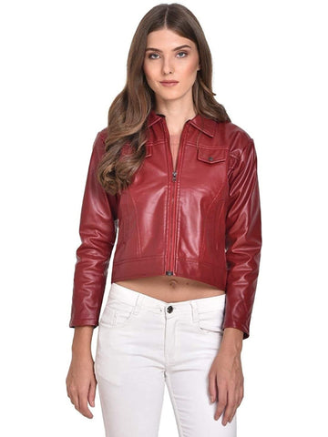 Leather Jacket for Women's