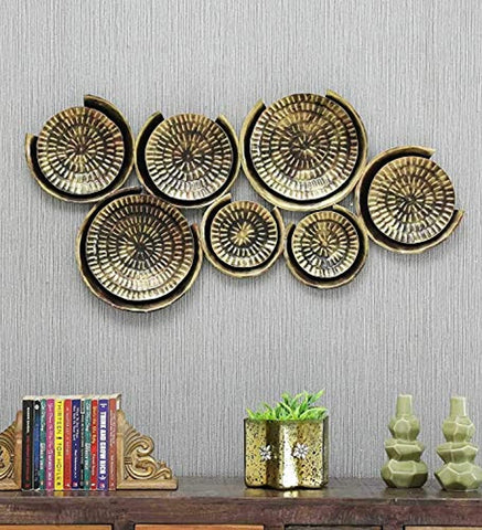 7 Plates Metal Wall Art Wall Decor