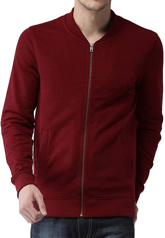 Round Neck Cotton Jacket for Men