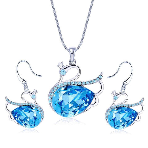Authentic Crystals from Swarovski Designer Pendant Set Jewellery