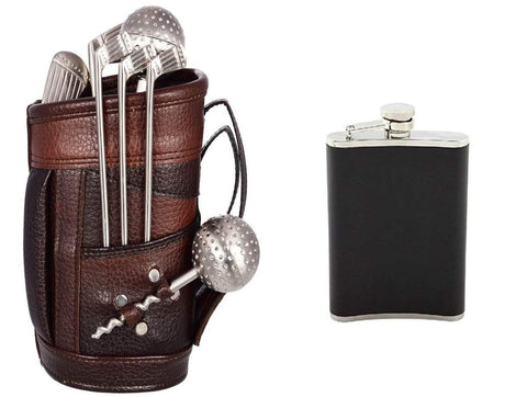 Exclusive Golf Bar Set with Leatherette Bag & Beautiful Box